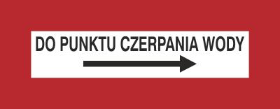 Znak Do punktu czerpania wody (w prawo) (231-20)