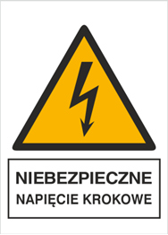 Obrazek dla kategorii Znak Niebezpieczne napięcie krokowe (330-12)