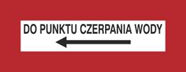 Obrazek dla kategorii Znak Do punktu czerpania wody (w lewo) (231-21)