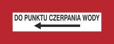 Znak Do punktu czerpania wody (w lewo) (231-21)