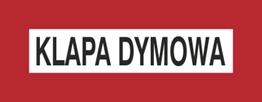 Obrazek dla kategorii Znak Klapa dymowa (231-22)
