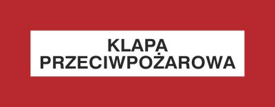 Znak Klapa przeciwpożarowa (231-23)