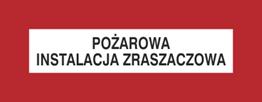 Obrazek dla kategorii Znak Pożarowa instalacja zraszaczowa (231-24)