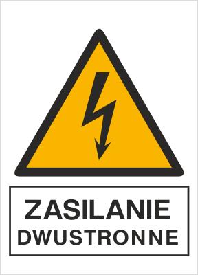 Znak Zasilanie dwustronne (330-14)