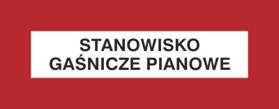 Znak Stanowisko gaśnicze pianowe (231-32)