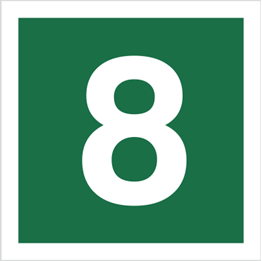 Obrazek dla kategorii Znak Stacja ewakuacyjna nr 8 (120-21)