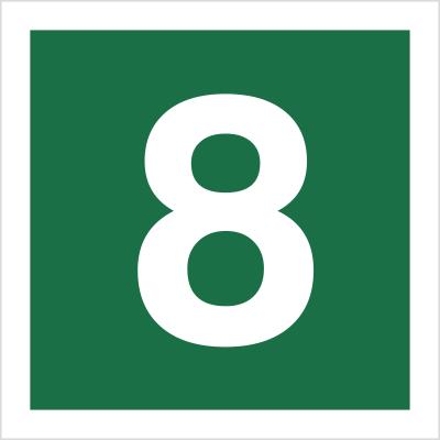 Znak Stacja ewakuacyjna nr 8 (120-21)