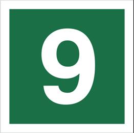 Obrazek dla kategorii Znak Stacja ewakuacyjna nr 9 (120-22)