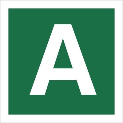 Znak Stacja ewakuacyjna A (120-23)