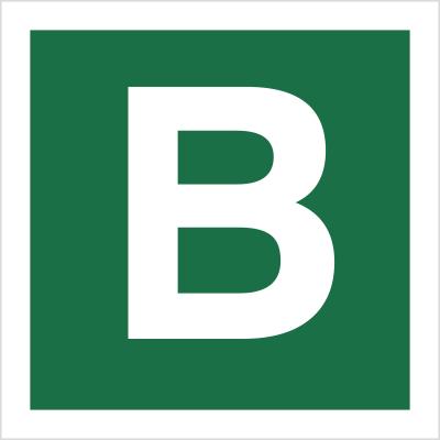 Znak Stacja ewakuacyjna B (120-24)