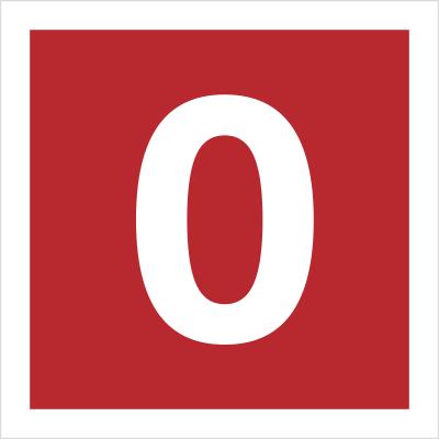 Znak Cyfra 0 (808-08)