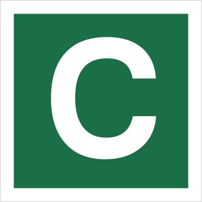Znak Stacja ewakuacyjna C (120-25)