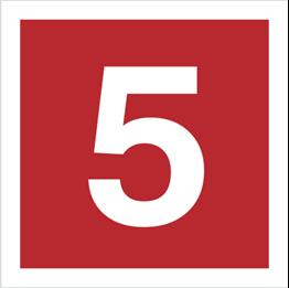 Obrazek dla kategorii Znak Cyfra 5 (808-13)