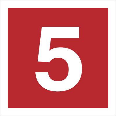 Znak Cyfra 5 (808-13)