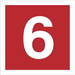 Obrazek dla kategorii Znak Cyfra 6 (808-14)