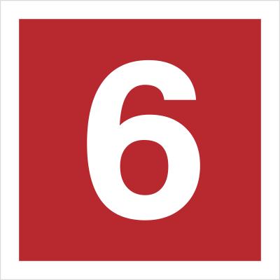Znak Cyfra 6 (808-14)