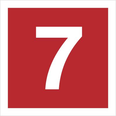 Znak Cyfra 7 (808-15)