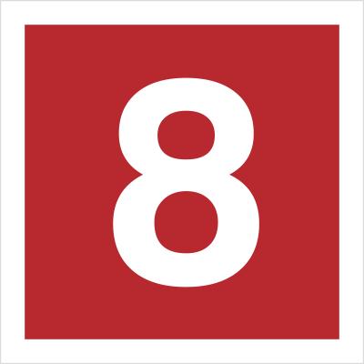 Znak Cyfra 8 (808-16)