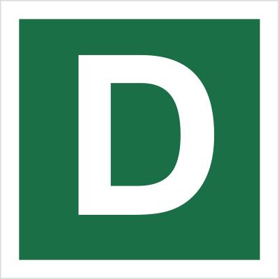 Znak Stacja ewakuacyjna D (120-26)