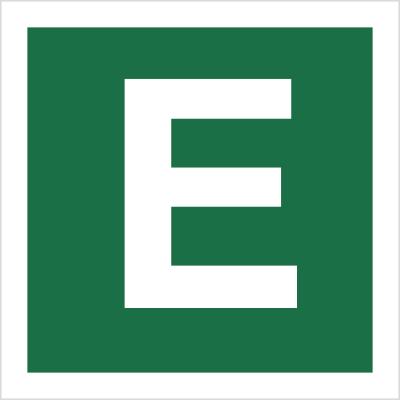 Znak Stacja ewakuacyjna E (120-27)