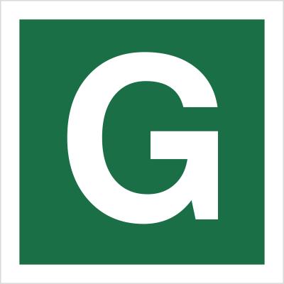 Znak Stacja ewakuacyjna G (120-29)