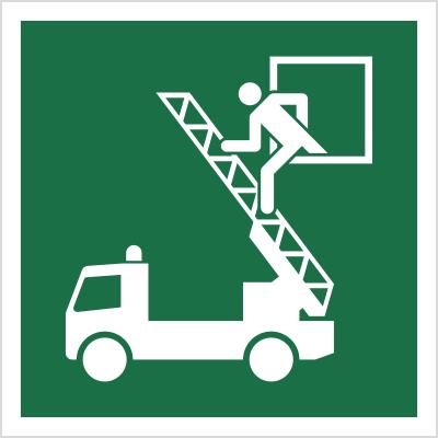 Znak Okno ratunkowe (E17)