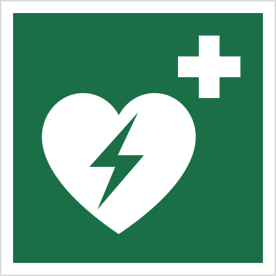 Znak Defibrylator (AED) (E10)