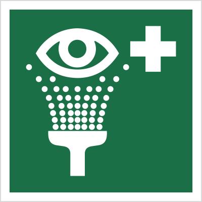 Znak Prysznic do przemywania oczu (E11)