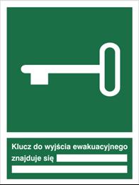 Obrazek dla kategorii Znak Klucz do wyjścia ewakuacyjnego (117)