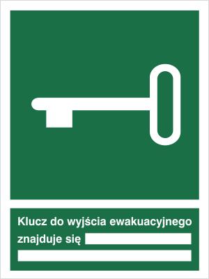 Znak Klucz do wyjścia ewakuacyjnego (117)