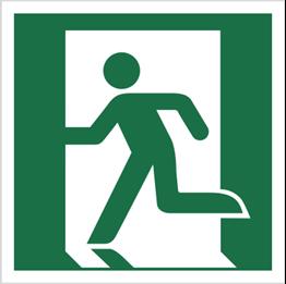 Obrazek dla kategorii Znak Wyjście ewakuacyjne (lewostronne) (E01)