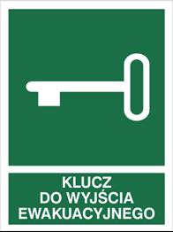 Obrazek dla kategorii Znak Klucz do wyjścia ewakuacyjnego - z opisem (117-01)