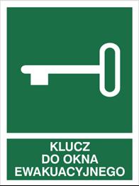 Obrazek dla kategorii Znak Klucz do okna ewakuacyjnego (117-02)