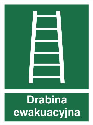 Znak Drabina ewakuacyjna - z opisem (118)