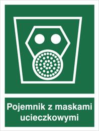 Obrazek dla kategorii Znak Pojemnik z maskami ucieczkowymi (119)