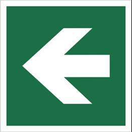 Obrazek dla kategorii Znak Kierunek drogi ewakuacyjnej - strzałka prosta (E00-01)
