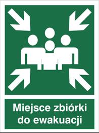 Obrazek dla kategorii Znak Miejsce zbiórki do ewakuacji (120)
