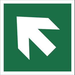 Obrazek dla kategorii Znak Kierunek drogi ewakuacyjnej - strzałka skośna (E00-02)