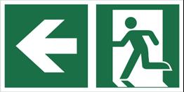 Obrazek dla kategorii Znak łączony wyjście ewakuacyjne ze strzałką E01-LL (E01-0LL)