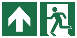 Obrazek dla kategorii Znak łączony wyjście ewakuacyjne ze strzałką E01-GG (E01-0GG)
