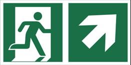 Obrazek dla kategorii Znak łączony wyjście ewakuacyjne ze strzałką E02-PG (E02-0PG)
