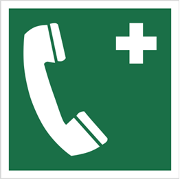 Obrazek dla kategorii Znak telefon alarmowy wg pn-en iso 7010 (E04)