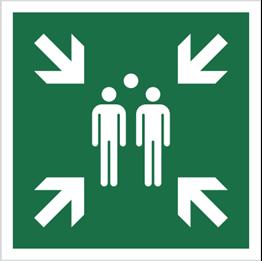 Obrazek dla kategorii Znak Miejsce zbiórki do ewakuacji (E07)