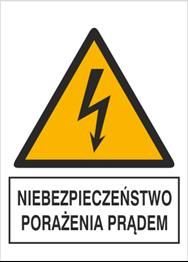 Obrazek dla kategorii Znak Niebezpieczeństwo porażenia prądem (330-24)