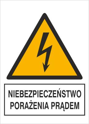 Znak Niebezpieczeństwo porażenia prądem (330-24)