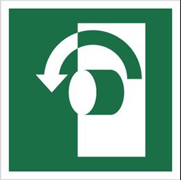 Obrazek dla kategorii Znak Przekręcić w lewo, aby otworzyć (E18)