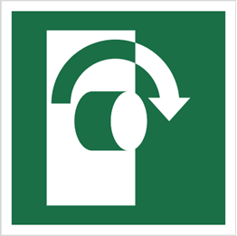 Obrazek dla kategorii Znak Przekręcić w prawo, aby otworzyć (E19)