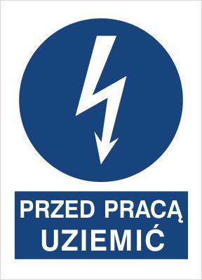 Znak Przed pracą uziemić (430-05)