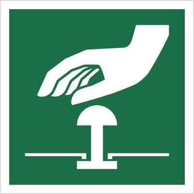 Znak Przycisk awaryjnego zatrzymania (E20)