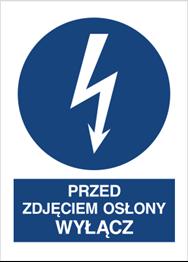 Obrazek dla kategorii Znak Przed zdjęciem osłony wyłącz (430-15)